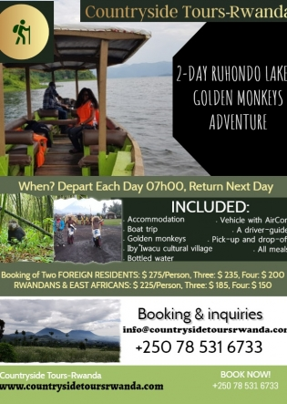 2-day Ruhondo Lake and Golden Monkeys Adventure