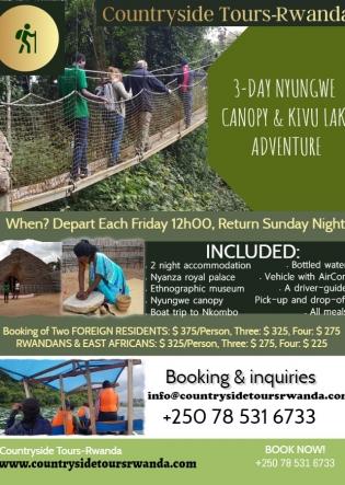 3-Day Nyungwe Canopy Kivu Lake Adventure